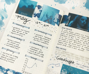 blue, diary, and journal image