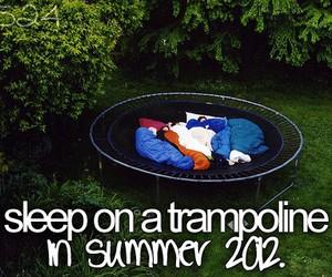 trampoline, sleep, and bucket list image