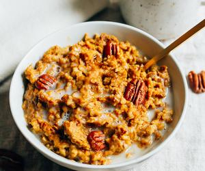 breakfast, oats, and pumpkin spice image