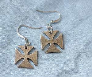 cross, the boondock saints, and cross earrings image