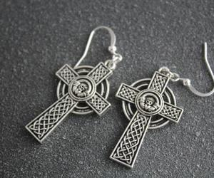 cross of lorraine jewelry, cross of lorraine pendant, and ireland cross earrings image