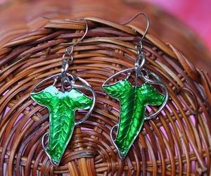 lord of the rings, leaf jewelry, and leaf earrings image