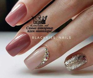 black, manicure, and pretty image