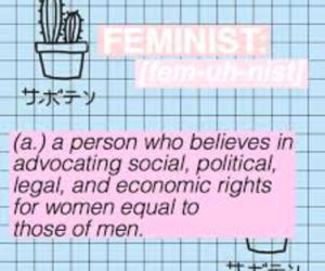 empowerment, feminist, and girl power image