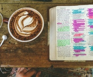 bible, coffee, and god image