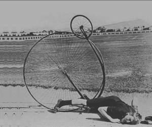 black and white, english bike, and 1873 bike image