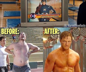 captain america, fitness, and steve rogers image