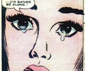 alone, comic, and sad image