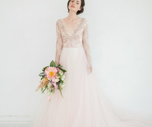 attractive, weddings, and lace wedding dress image