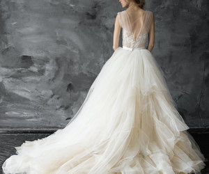 attractive, backless dress, and ball gown image