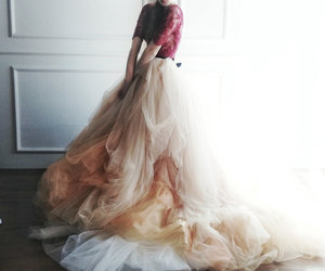 attractive, ball gown, and ivory image