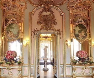 gold, pink, and luxury image