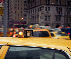 city, taxi, and photography image