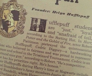 harry potter, hufflepuff, and book image