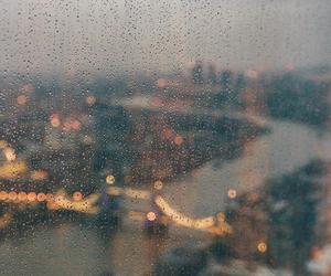 city, life, and rain image