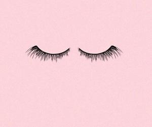 pink, eyelashes, and wallpaper image