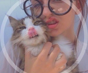 girl, cat, and tumblr image