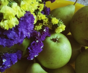 apple, love, and flower image