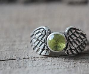 zircon, wing ring, and angel wing ring image