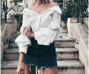 aesthetic, tumblr, and white tshirt image