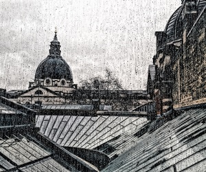 london, rainy, and v&a museum image