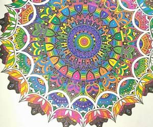 draw, mandala, and rainbow image