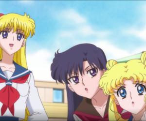 sailor mercury, tsukino usagi, and hino rei image