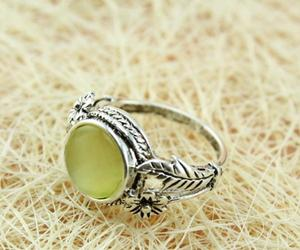 flower ring, yellow cat, and simple ring image
