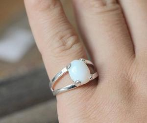 bridesmaid ring, teardrop briolette, and eco-friendly gift image