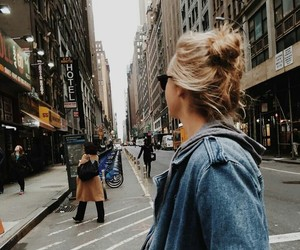 girl, city, and fashion image