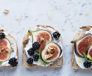 food, toast, and fig image