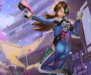 d.va, overwatch, and hana song image