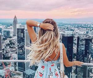 city, girl, and summer image