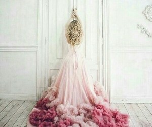 dress, pink, and grace image