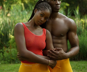 African, black, and couple image