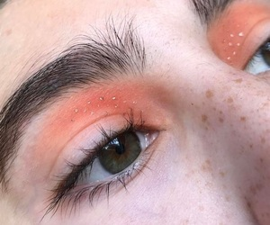 eyes, peach, and aesthetic image