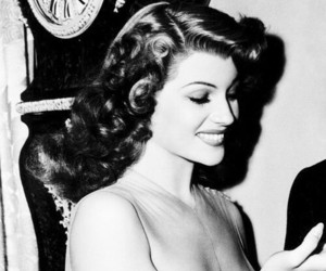 rita hayworth, b&w, and beauty image