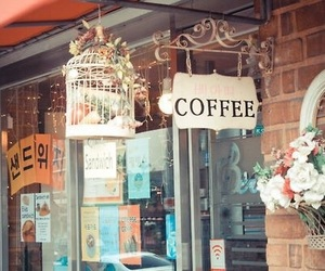 coffee, korea, and flowers image