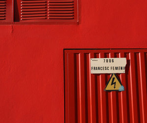 high voltage and red image