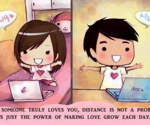 love, distance, and hug image