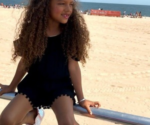 beach, daughter, and curl image