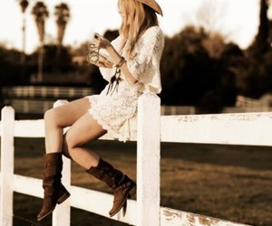 girl, Cowgirl, and dress image