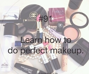 91, 100 things to do in life, and makeup image