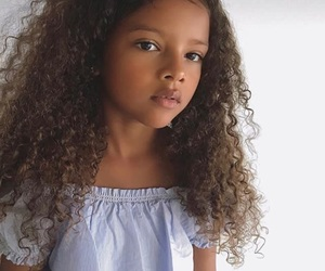curl, curly, and daughter image