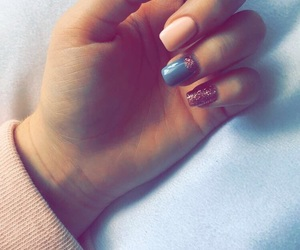 glitter, grey, and pink image