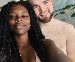 black, interracial, and mixed couple image