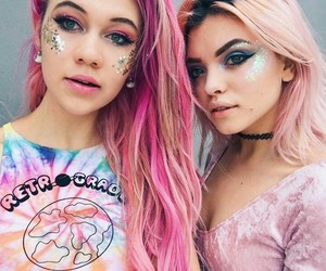 glitter, make up, and pink image