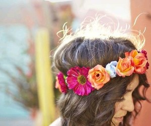 crown, flowers, and girly image