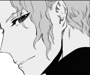 character, noblesse, and black and white image
