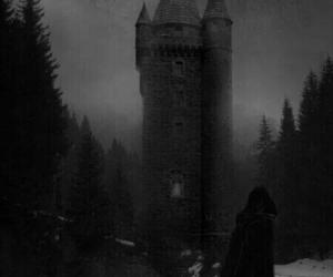 wolf, dark, and tower image